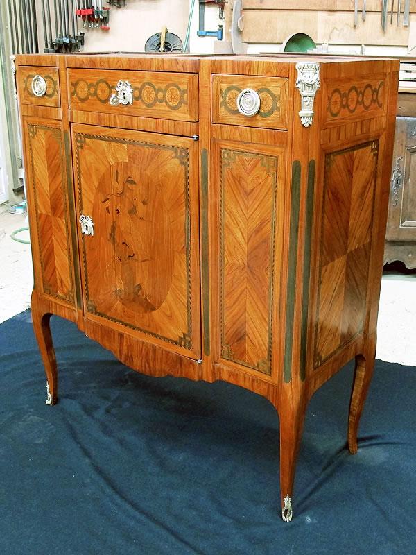 Rénovation d'un meuble d'appui ancien