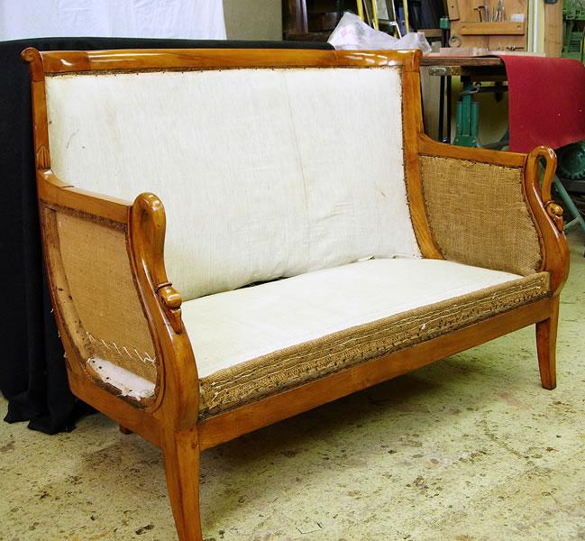 Restauration d'un canapé Directoire