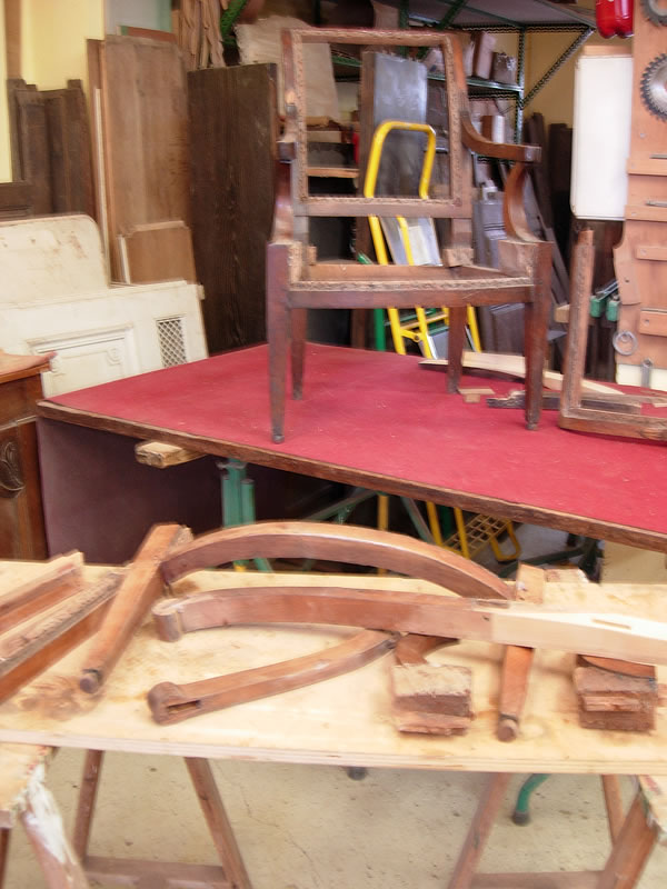 Restauration de fauteuils Charles X