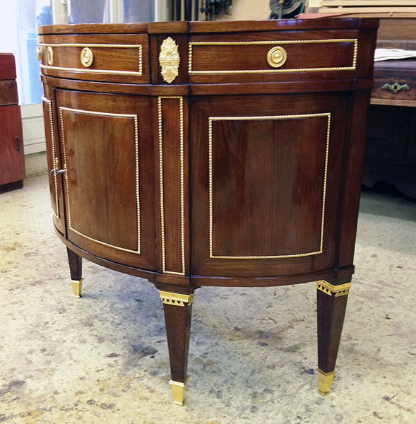 Restauration console demi-lune
