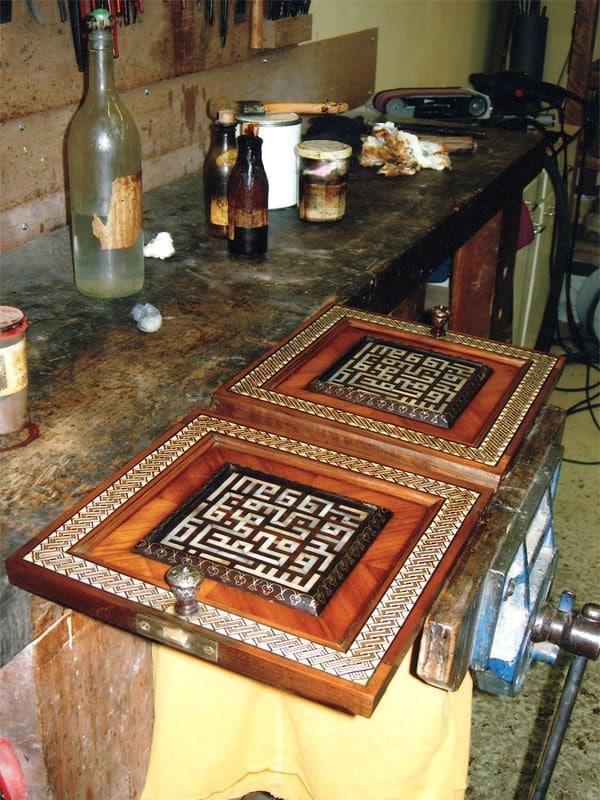 Restauration d'un meuble ottoman