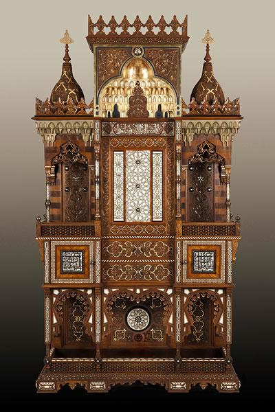 Meuble ottoman après restauration