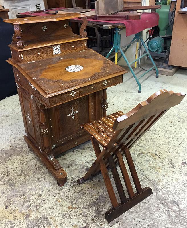 Restauration d'un bureau syrien et sa chaise
