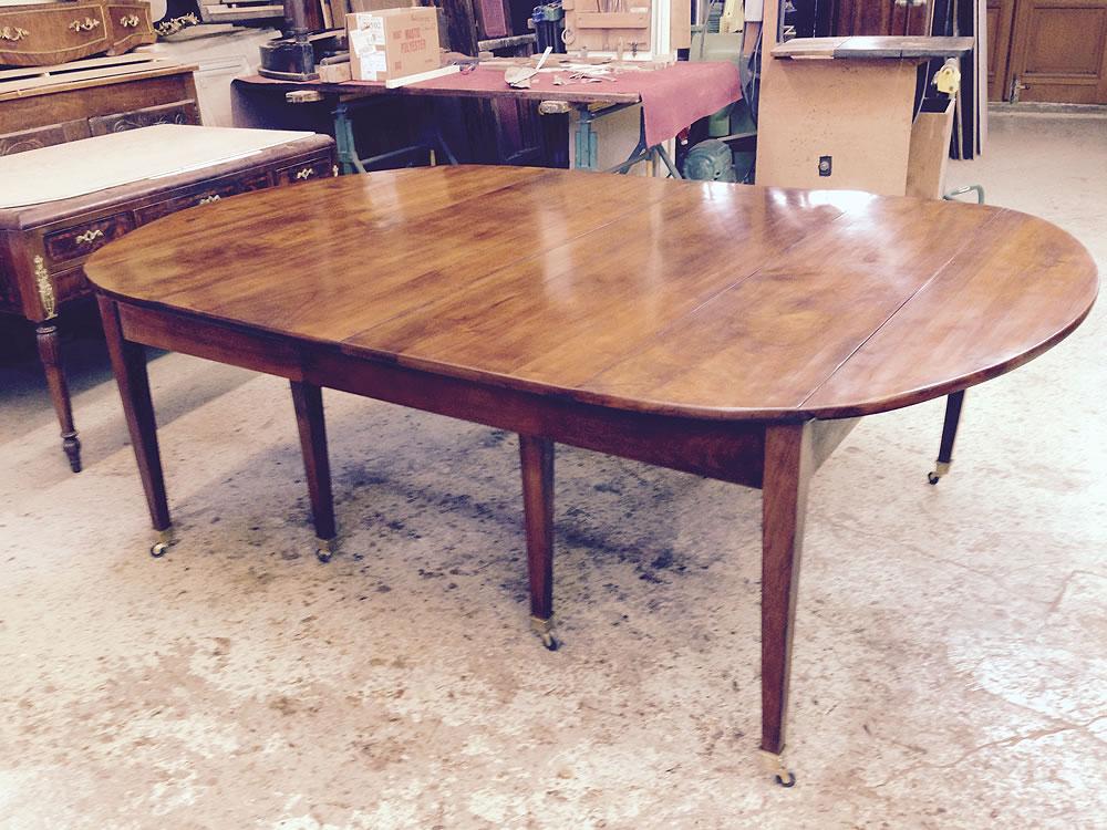 Table 8 pieds après restauration