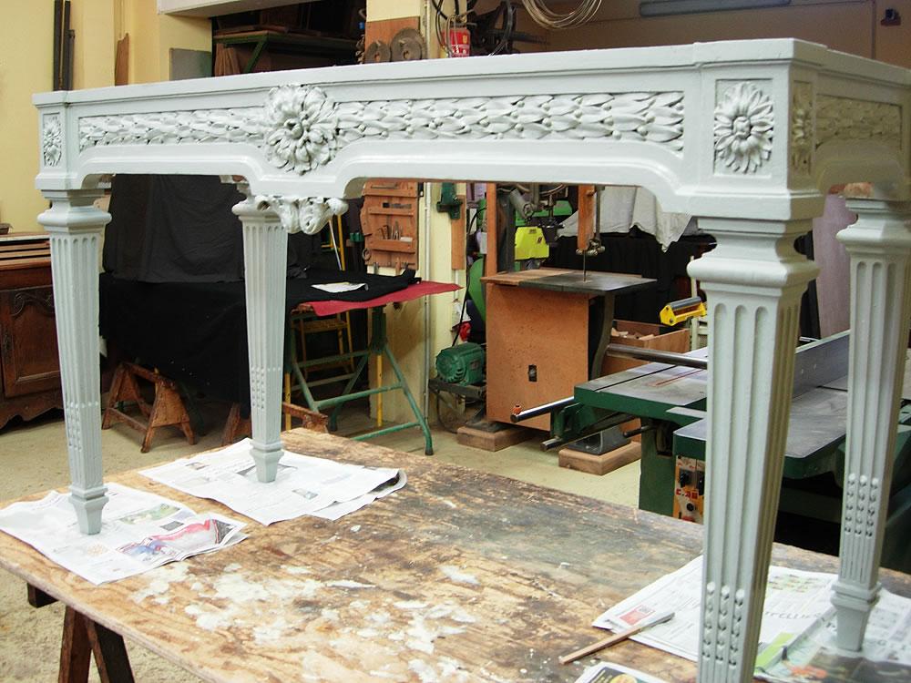 Restauration d'une table ancienne en chêne