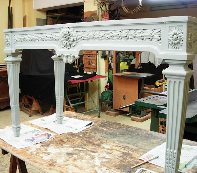 Restauration d'une table en chêne ancienne