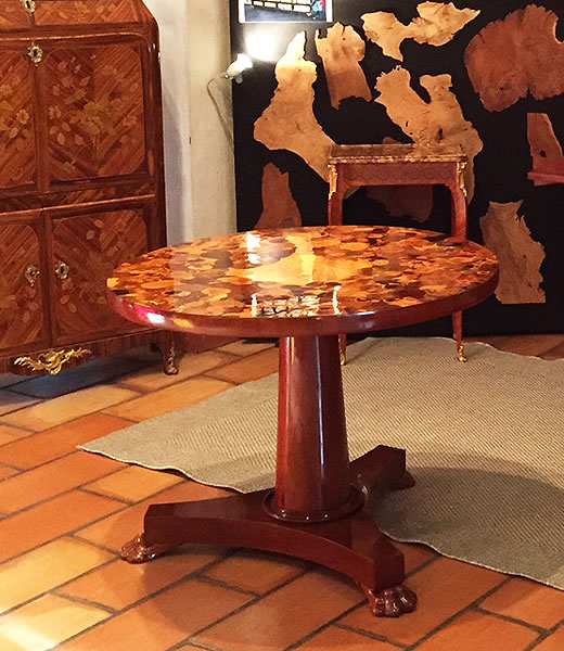 Restauration d'une table coquillage